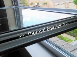 Replacement Window Sliver Frame Thermal Barrier Tilted