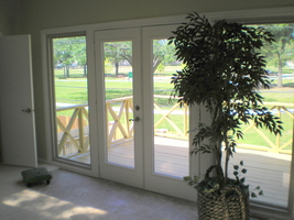 Patio Door New Insulated Glsaa Double Patio Door with New Hardware and White Paint