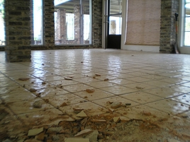 Flooring During Tile Removal