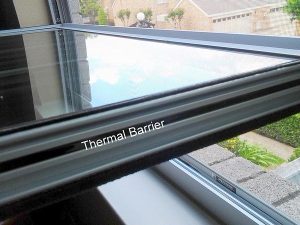 Window Sliver Frame Thermal Barrier Tilted